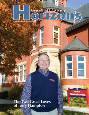 2010 Winter Graceland University 视野 magazine cover: The Two Great Loves of Jerry Hampton