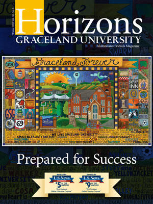 2015 Winter Graceland University 视野 magazine cover: Prepared for Success